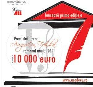 10.000 de euro pentru cel mai bun roman romanesc al anului