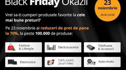 Black Friday Okazii, reduceri de până la 70%